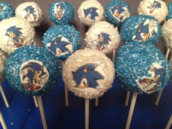 Cake Pops By Kellscakepops On Etsy 36 00 Sonic Cake Sonic Birthday Parties Sonic Birthday