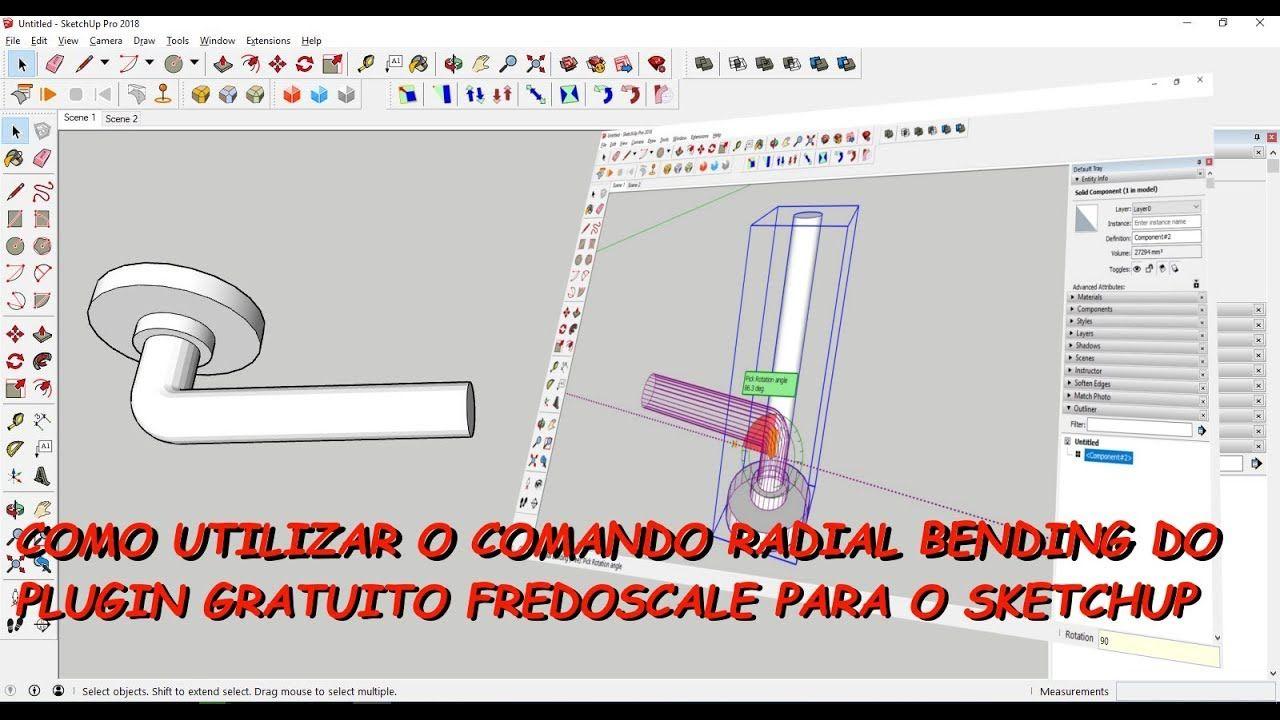 Como Utilizar O Comando Radial Bending Do Plugin Gratuito