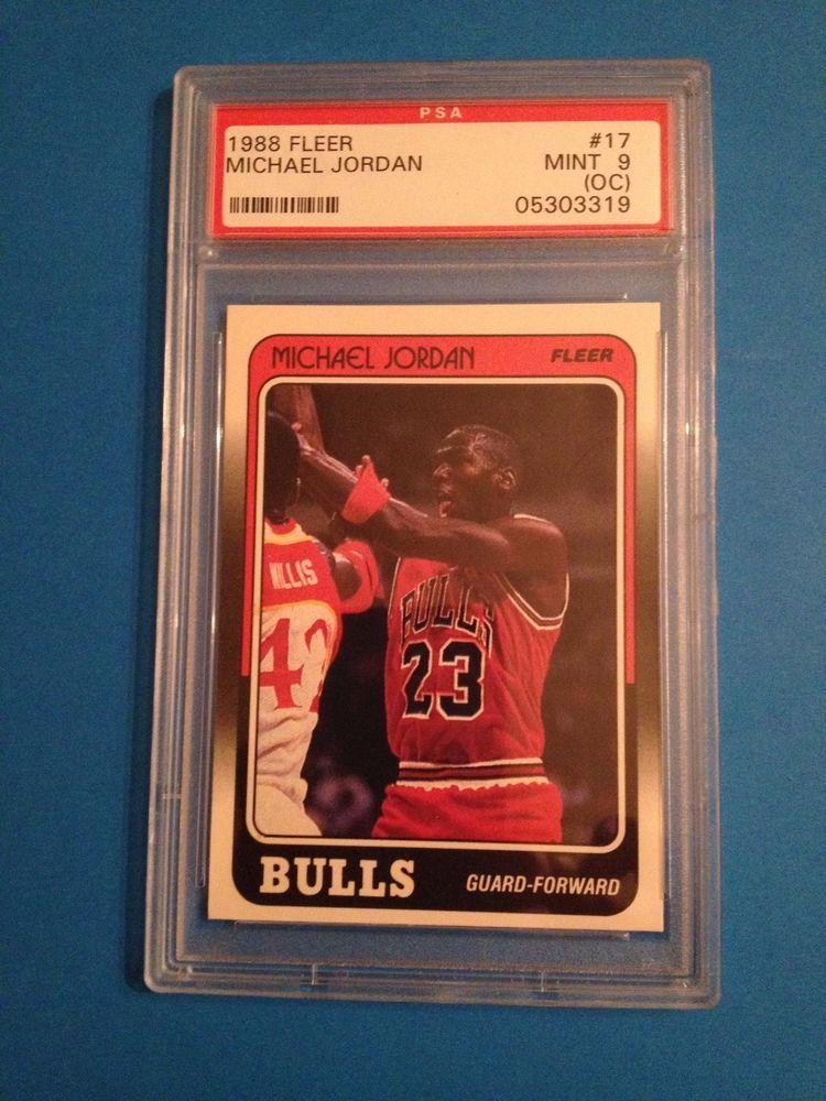 1988 fleer michael jordan chicago bulls 17 psa 9 mint