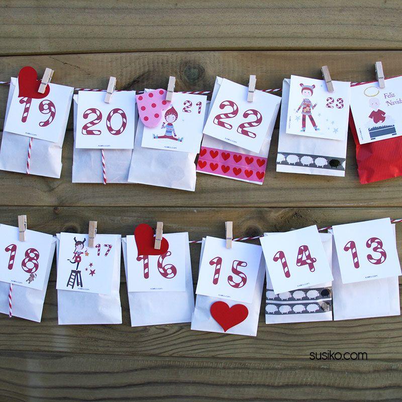 Calendario de Adviento, DIY divertido para hacer con tus hijos