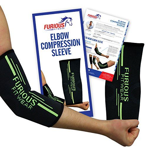 Elbow Compression Sleeve Support For Golf Tennis Elbow Ulnar Nerve