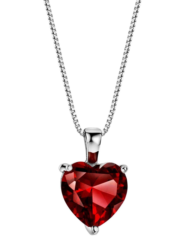 Natural Garnet pendant Special love Gift For Her Valentine gift Pendant January Birthstone pendant 18K Solid Gold Garnet Pendant