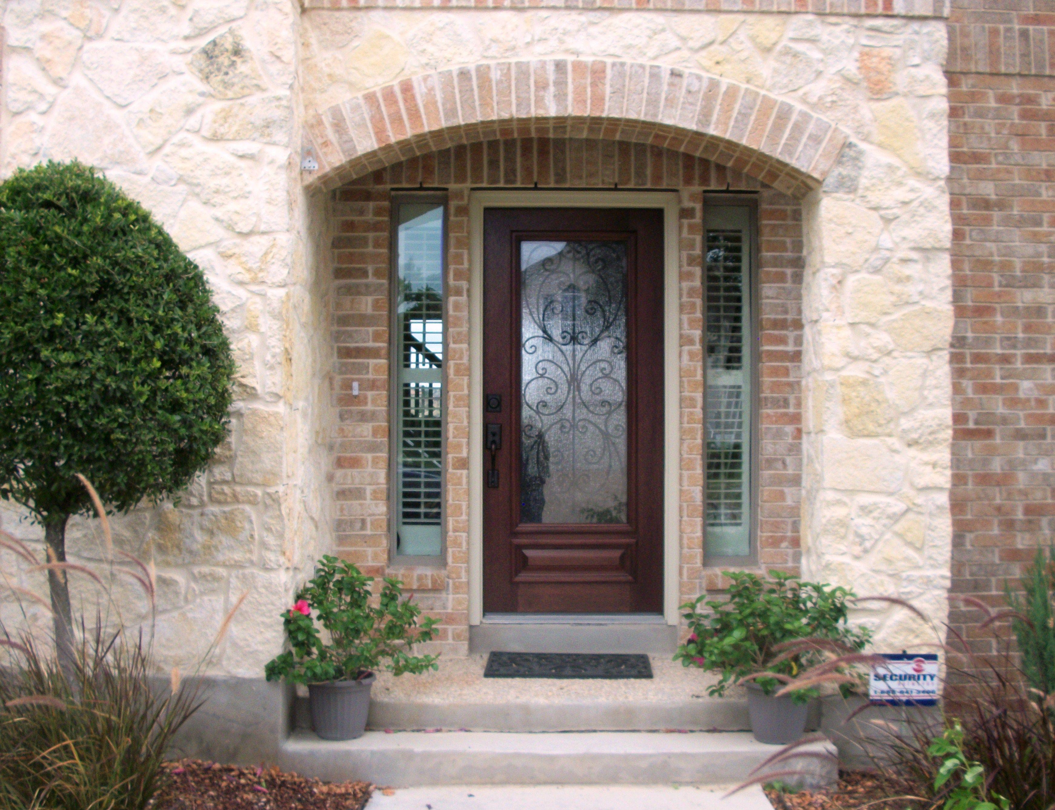 Decorative Glass Door With Side Lites Front Door Entry Door Exterior Front Doors Exterior Doors Front Entry Doors