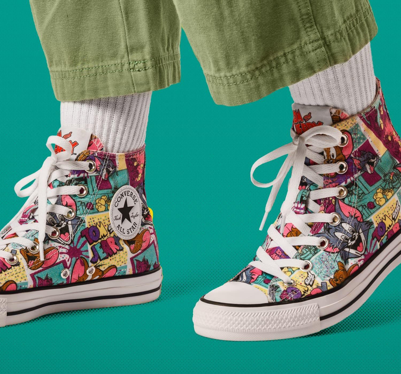 no relacionado jalea Habubu  Tom and Jerry Chuck Taylor All Star High Top | Chuck taylors, Chuck taylor  all star, High tops