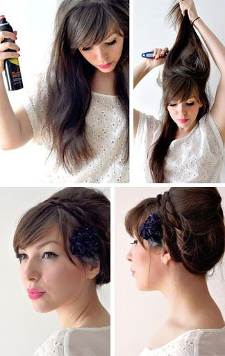 Easy Prom Wedding Hairstyles With Curls Formal Updos For Medium Long Hair Tutorial How To Updo Hairstyl Hair Tutorial Braided Hairstyles Braided Hair Tutorial