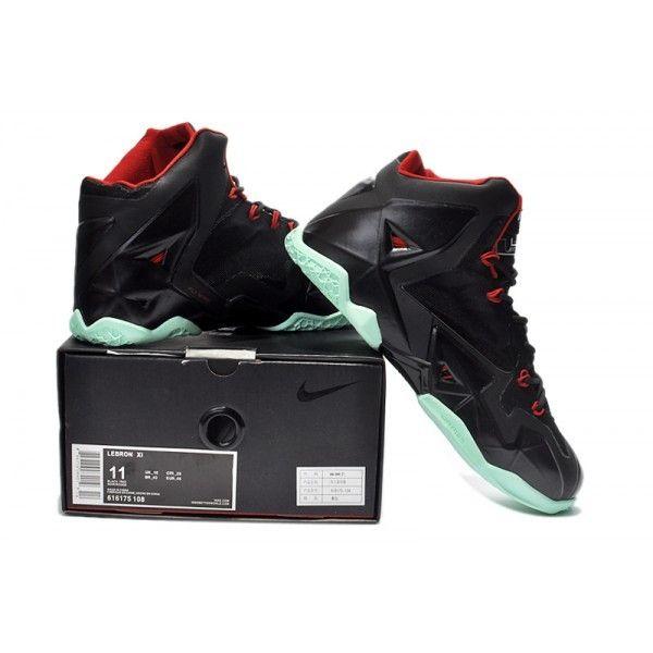 designer fashion 44700 8f7cb Cheap Nike Lebron 11 Black Red Green Shoes