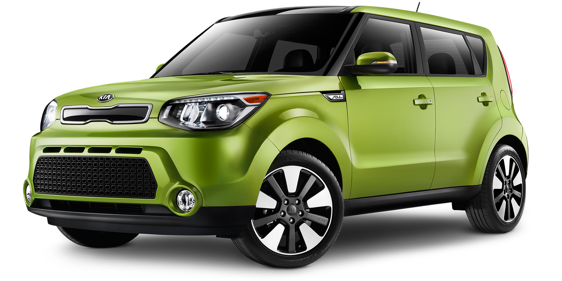 The 2015 Kia Soul Alian Green with the lowest gas mileage