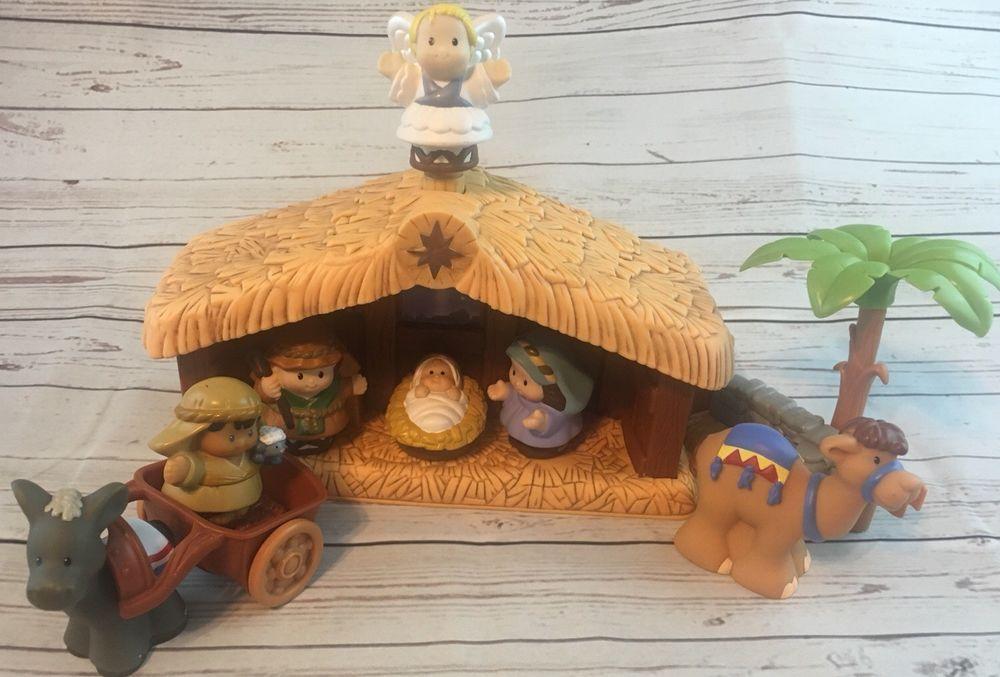 Fisher Price Mattell Little People Nativity Set Christmas Story