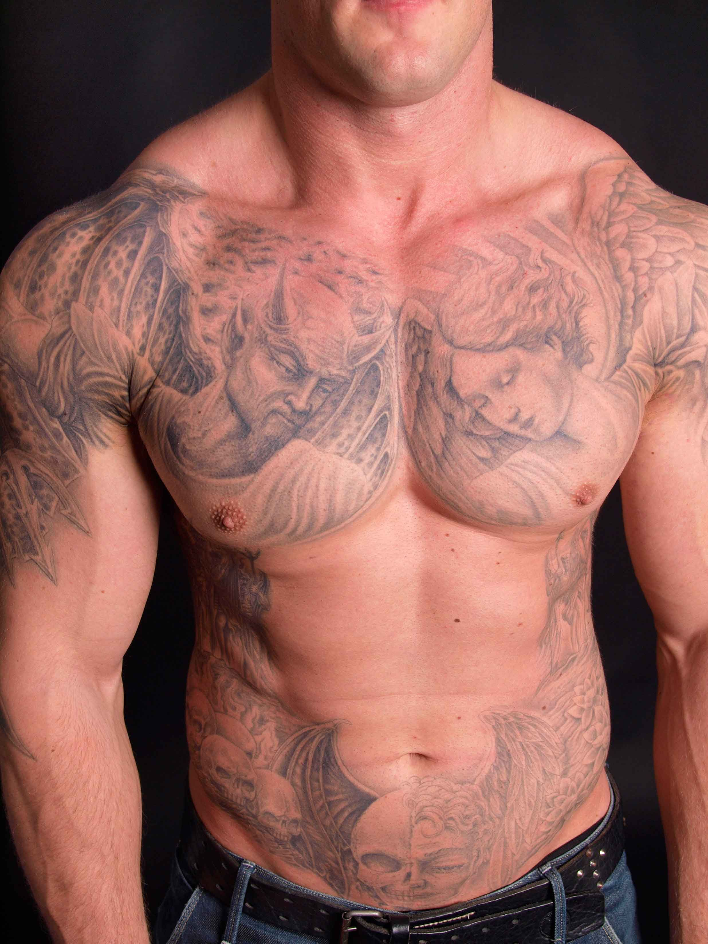 Good And Evil Tattoo Saco Maine Brandon S Evil Tattoos Tattoos