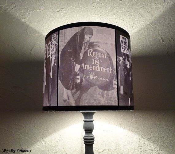 Prohibition Era Black And White Accent Lamp Shade
