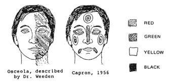 NativeTech: 19th Century Seminole Men`s Clothing ~ Face