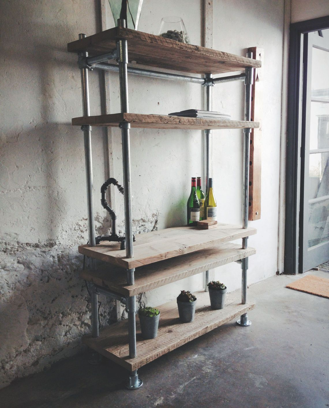Revive Joinery - Reclaimed Wood Scaffold Board Industrial Pipe ...