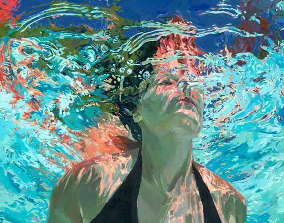 Emerge Clear Waters Matted 7.5x9.5 Archival von SamanthaFrench, $45.00