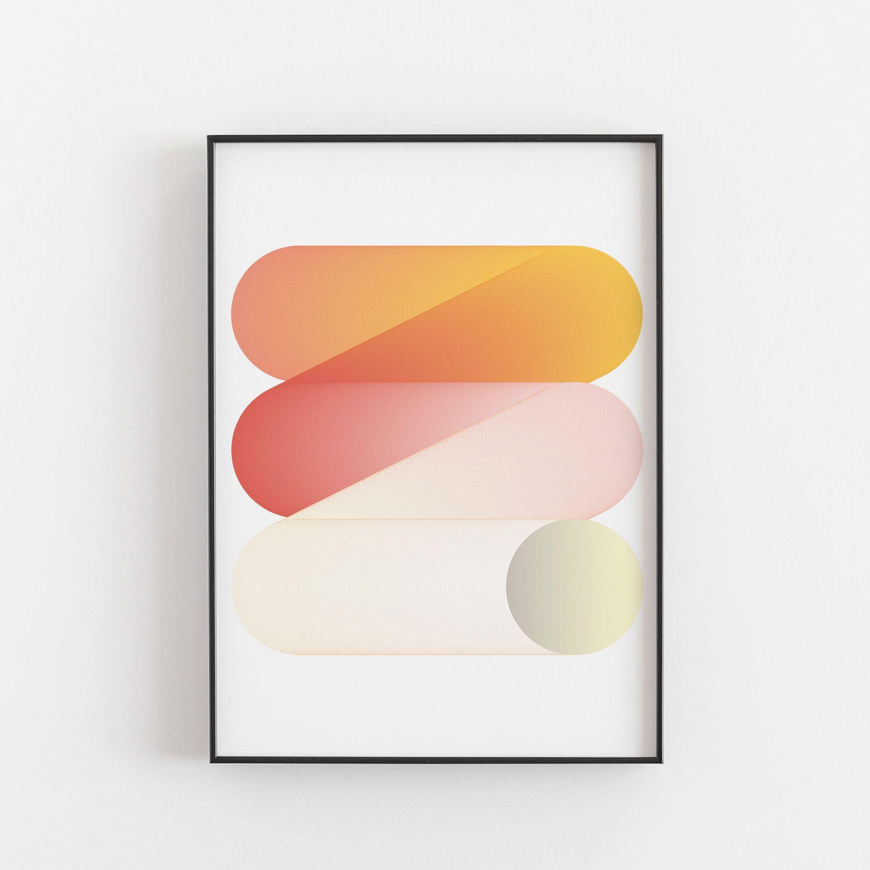 Rebond Un Audacieux Graphisme Impression D Art Par Deltanova Vintage Art Prints Graphic Design Art Unframed Prints