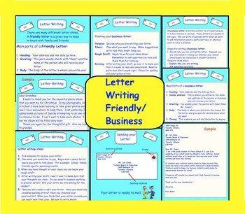 Letter Writing (Friendly/Business) PDF | ENGLISH LANGUAGE ARTS