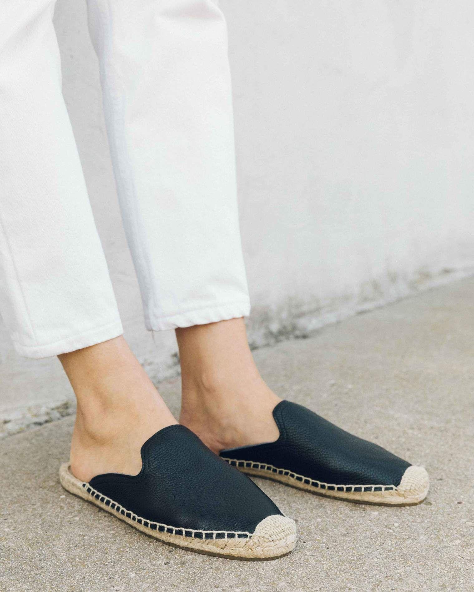 Tumbled Leather Mule black | Leather