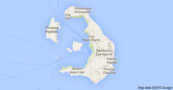 Map of Santorini Greece Corner of Calm
