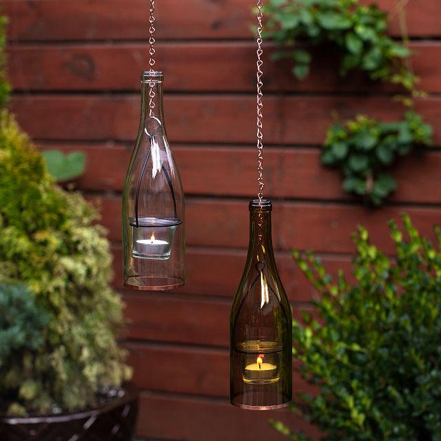 Wine Bottle Lantern Handmade Glass Lantern Wine Bottle