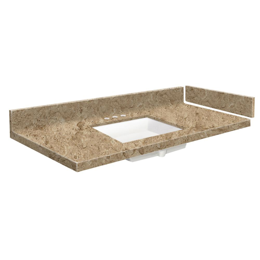 Transolid 31 In W X 22 25 In D Solid Surface Vanity Top In Sand