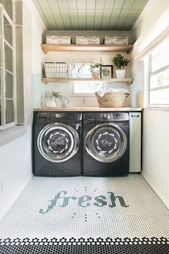 Laundry Room Decals Wash And Dry Vinyl Decals Laundry Organizer Laundry Room Decal Laundry Room Sticker Laundry Room Inspiration Laundry Room Decor Farmhouse Laundry Room Laundry room redo july 2009