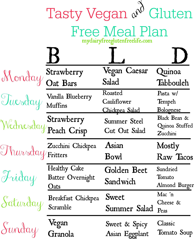 vegetarian gluten free diet plan