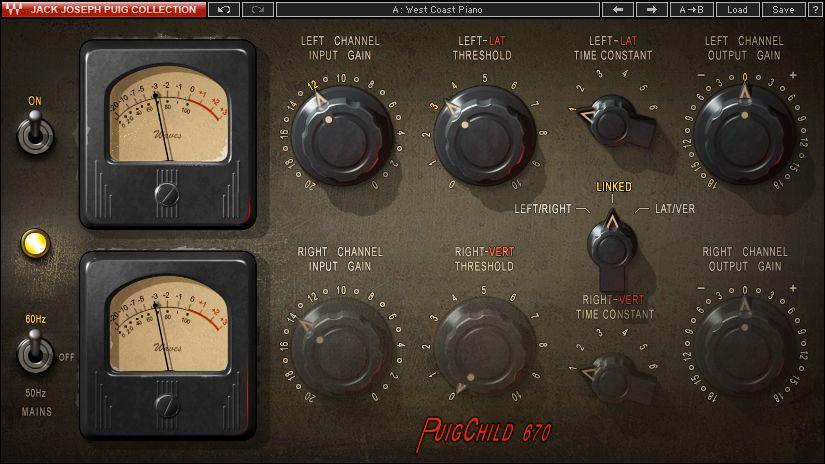 Fairchild Compressor Plugin Puigchild 660 670 Waves Waves Audio Plugins Compressor