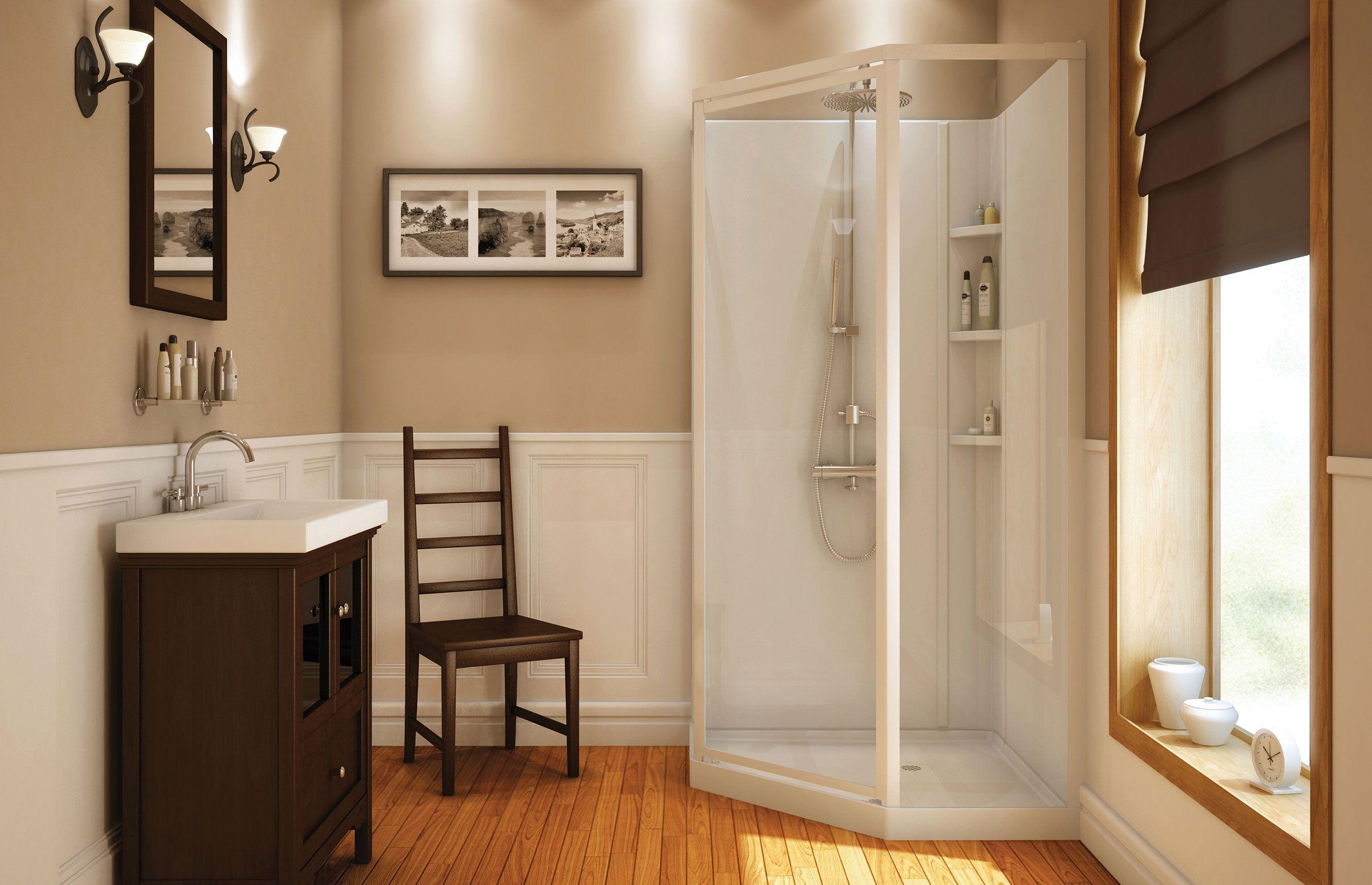 Beaufort II Corner shower - MAAX | reno | Pinterest | Corner, Small ...