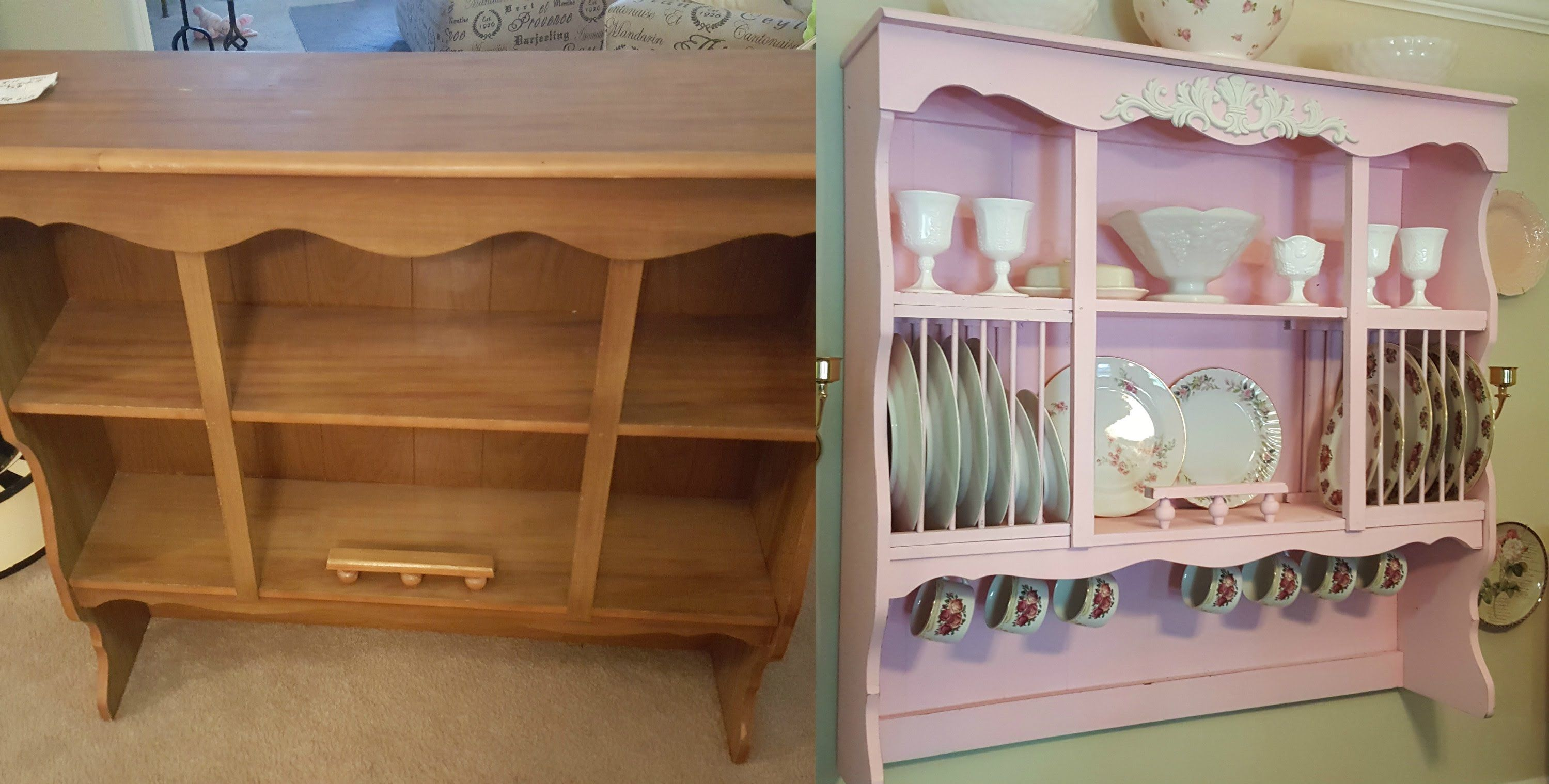 Diy Shabby Chic Wall Mounted China Cabinet Hutch Budget Project