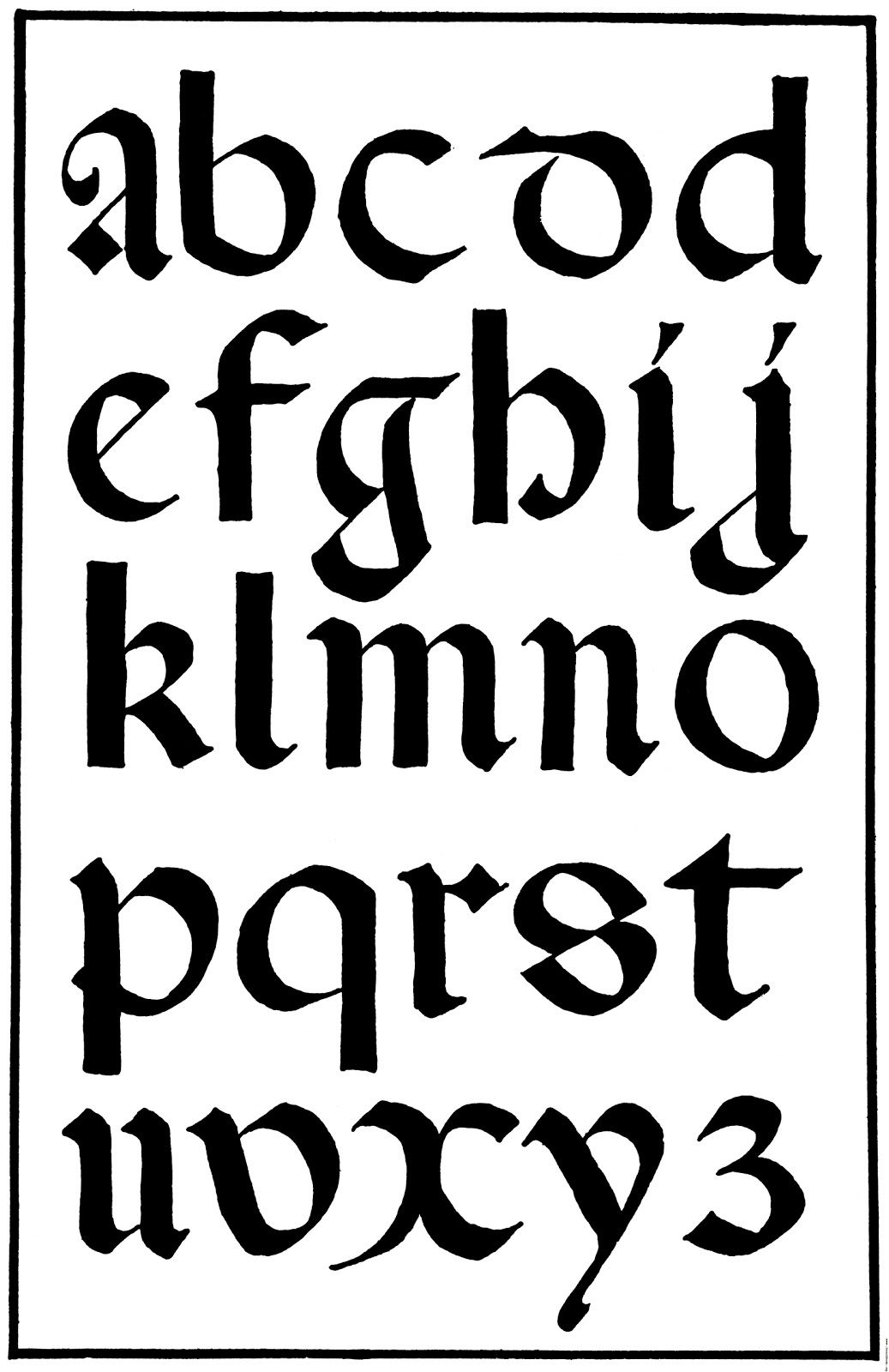 Celtic Calligraphy Alphabets A-Z