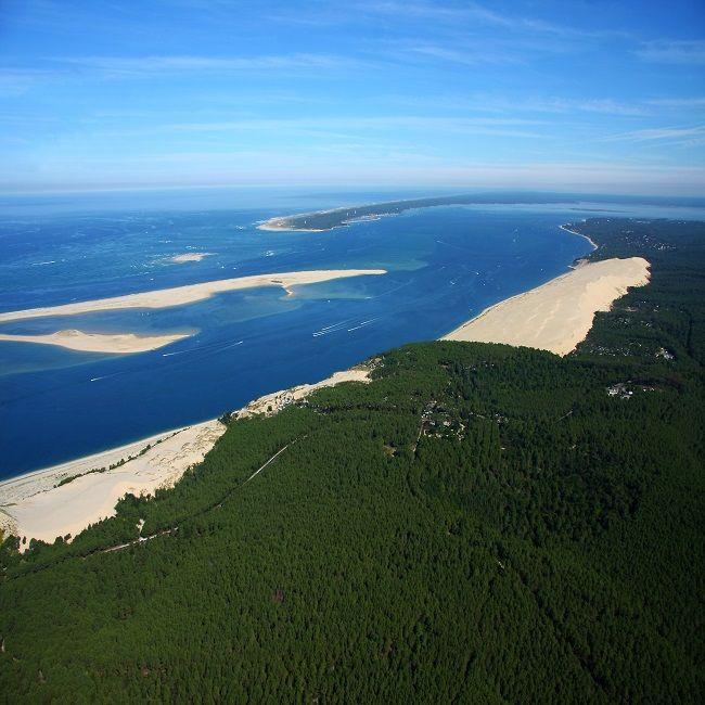 L Entree Du Bassin D Arcachon Vue D En Haut Bassin D Arcachon Arcachon France Arcachon
