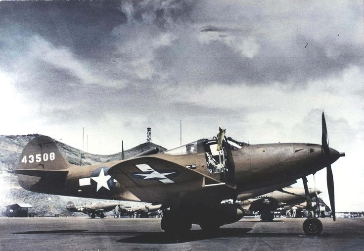 Bell P-39Q-20-BE s/n 44-3508 of the 333d Fighter Squadron, 318th Fighter Group at Bellows Field; Oahu, Hawaii - 1943