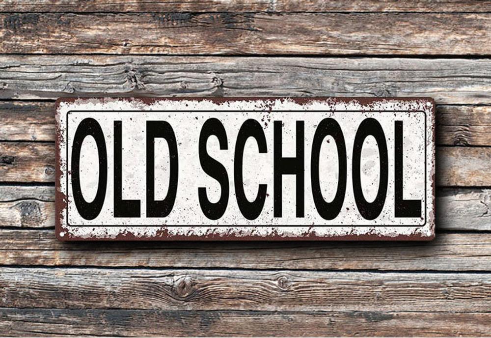 Old School Metal Street Sign Rustic Vintage Tfd2077 Etsy Street Signs Old School Olds