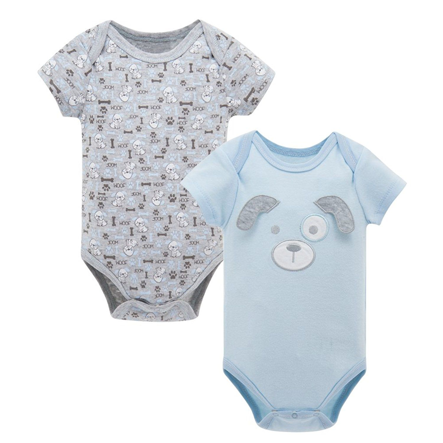 36bdc6382a3b DL MYAN Baby Rompers Short Sleeve Cotton 2PCS Newborn Baby Clothes ...
