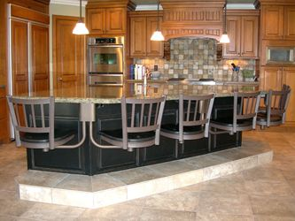 Under counter mounted bar stools by Seating Innovations Snack Bar Residential Use Application