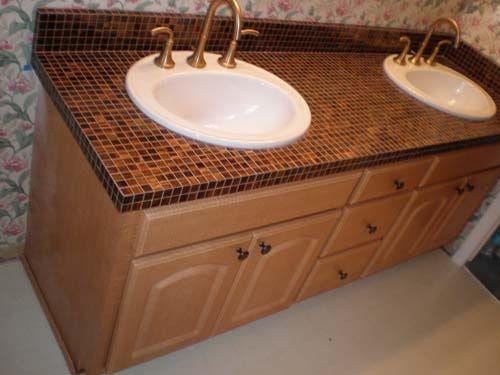 Bathroom Countertop Tile Ideas Bathroom Countertops Bathroom