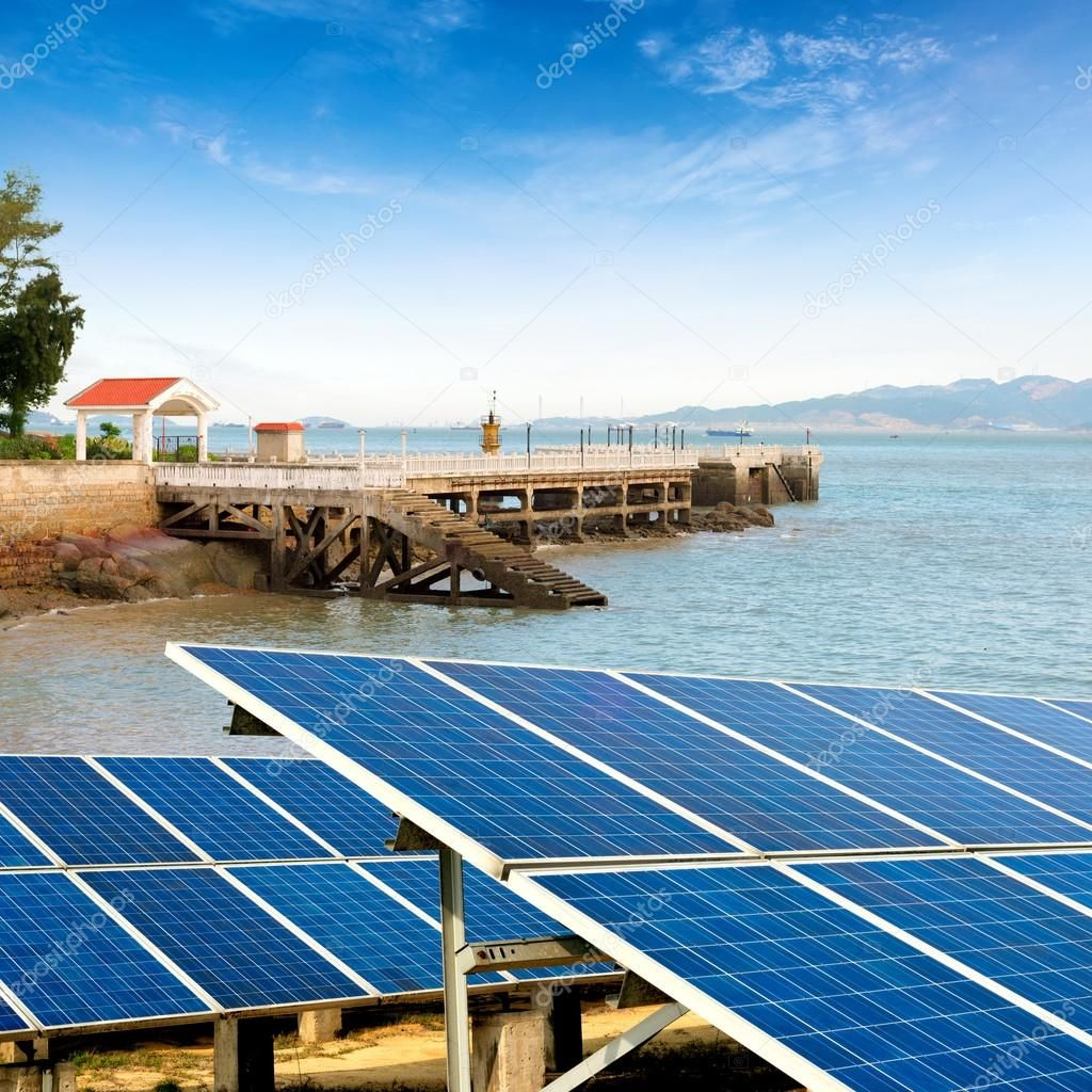 Seaside Solar Panels Stock Photo Ad Solar Seaside Panels Photo Ad I 2020