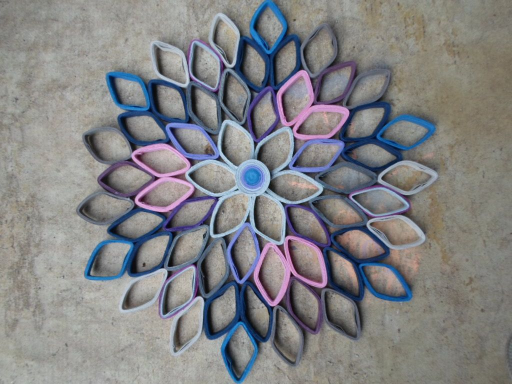 Dahlia wall hanging bedroom wall decor in pink blue purple and