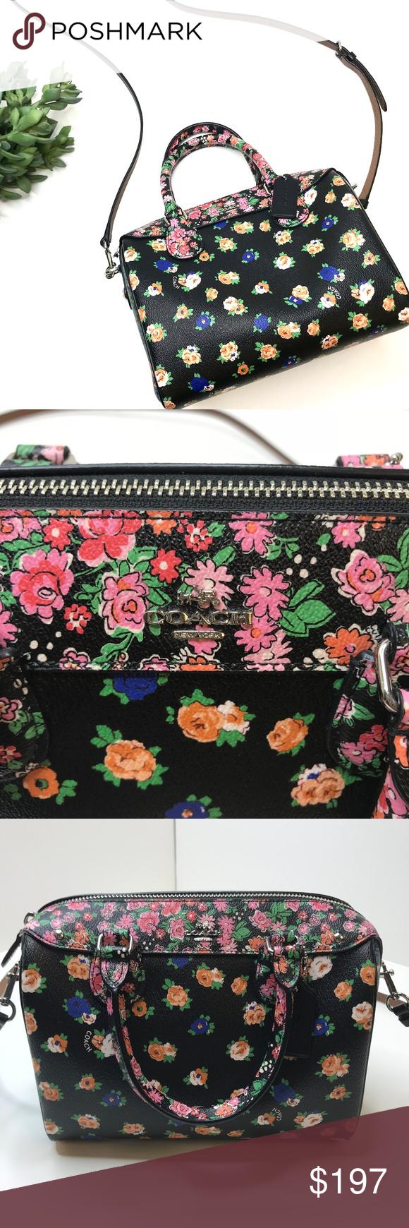 Coach Mini Bennett Satchel Floral Mix Print Bag Caution If You