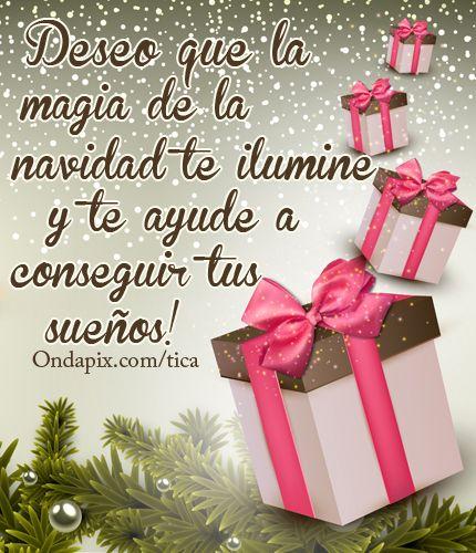 Clic Para Ver La Tarjetita Ampliada Fraces Navidad Deseos