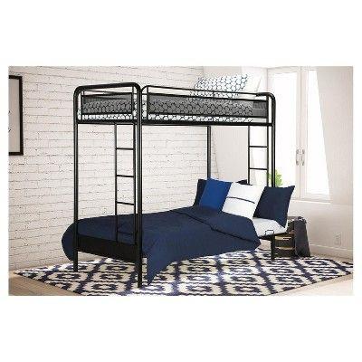 Rockstar Kids Bunk Bed Twin Futon Black Dorel Home Products Futon Bunk Bed Bunk Beds Twin