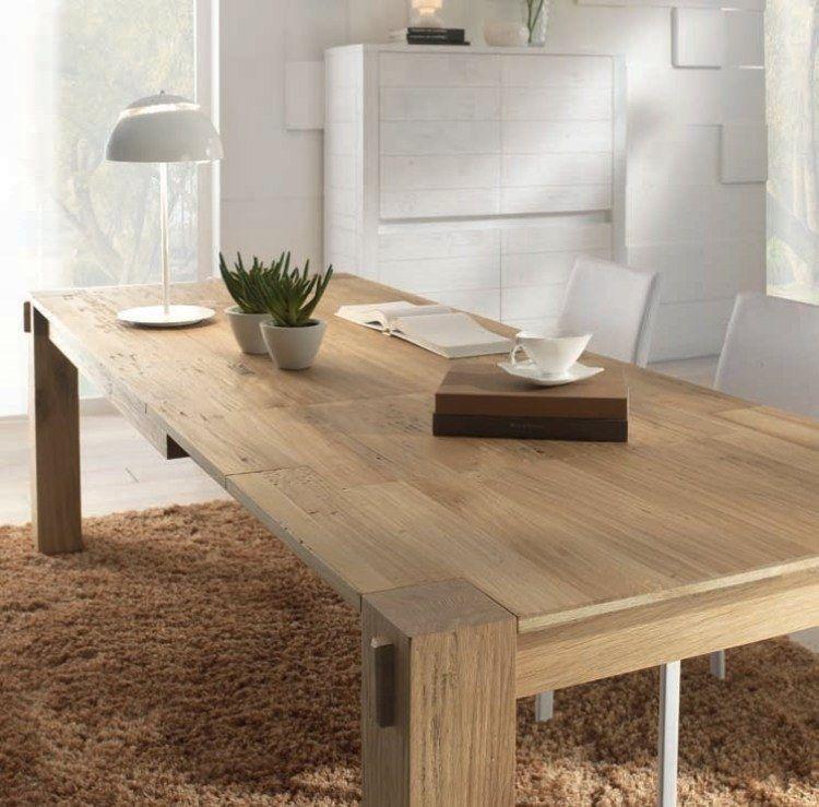 La table bois massif - le must have dans tous les domiciles