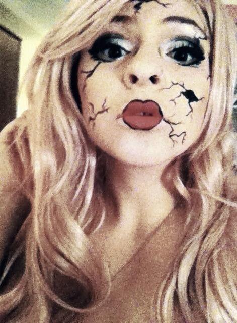 broken doll | Halloween | Pinterest | Halloween makeup and Clown ...