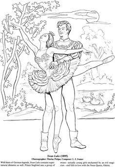 Favorite Ballets Coloring Book Dover Publications Poze Pinterest