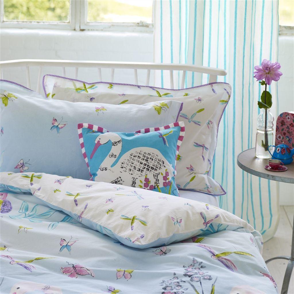 Kids Bedroom Linen paradise birds sky kids bed linen | designers guild | interior