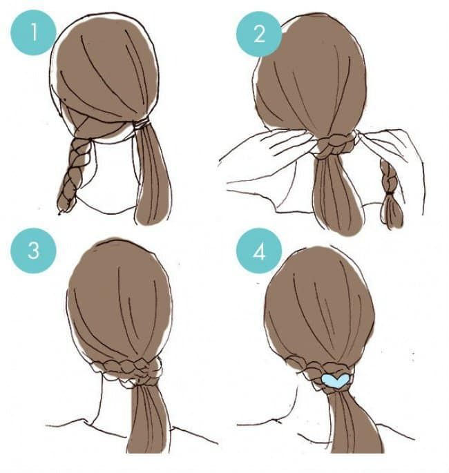 Cute Hairstyles that Can Be Done in a Few Minutes - lilostyle