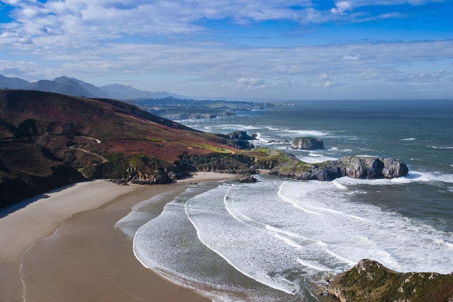 Playa De Torimbia Playas De Llanes Viajar Por España Paisajes