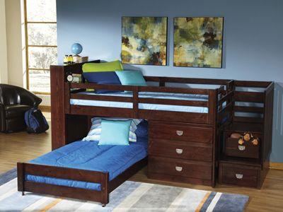 Hank S Fine Furniture University Jr Loft Bunk Bed Kids