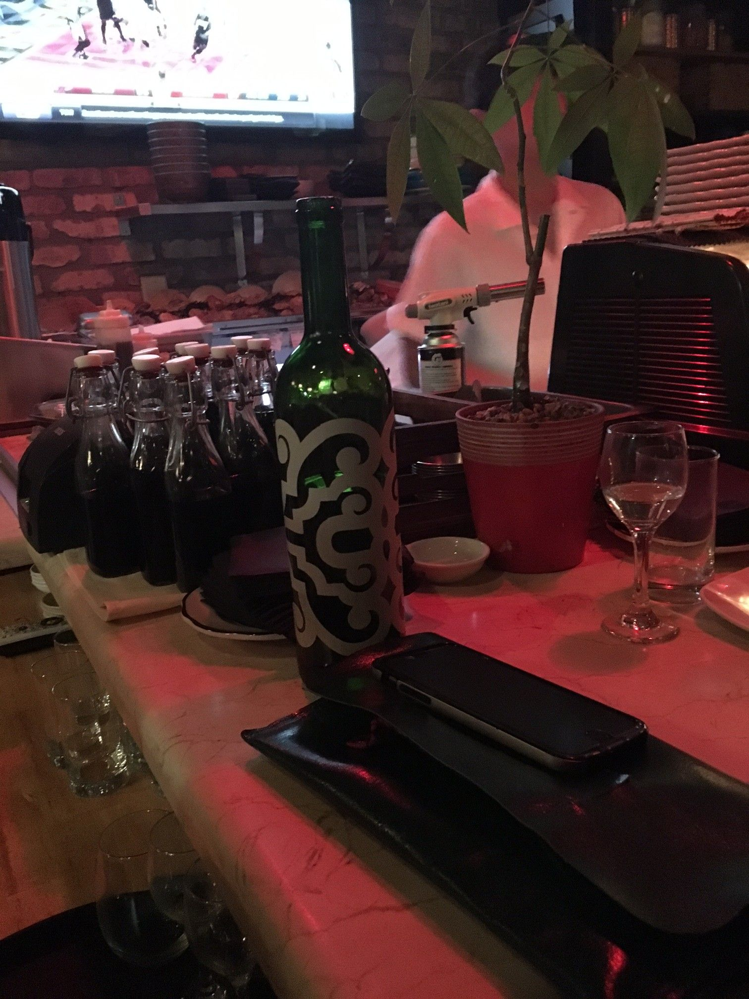 Check It Out Pub Belly Sushi In Miami Uses Protea Bottles As Repurposed Water Bottles What A Great Idea Protea Diy Cork Ornaments Paisley Pattern Bottle