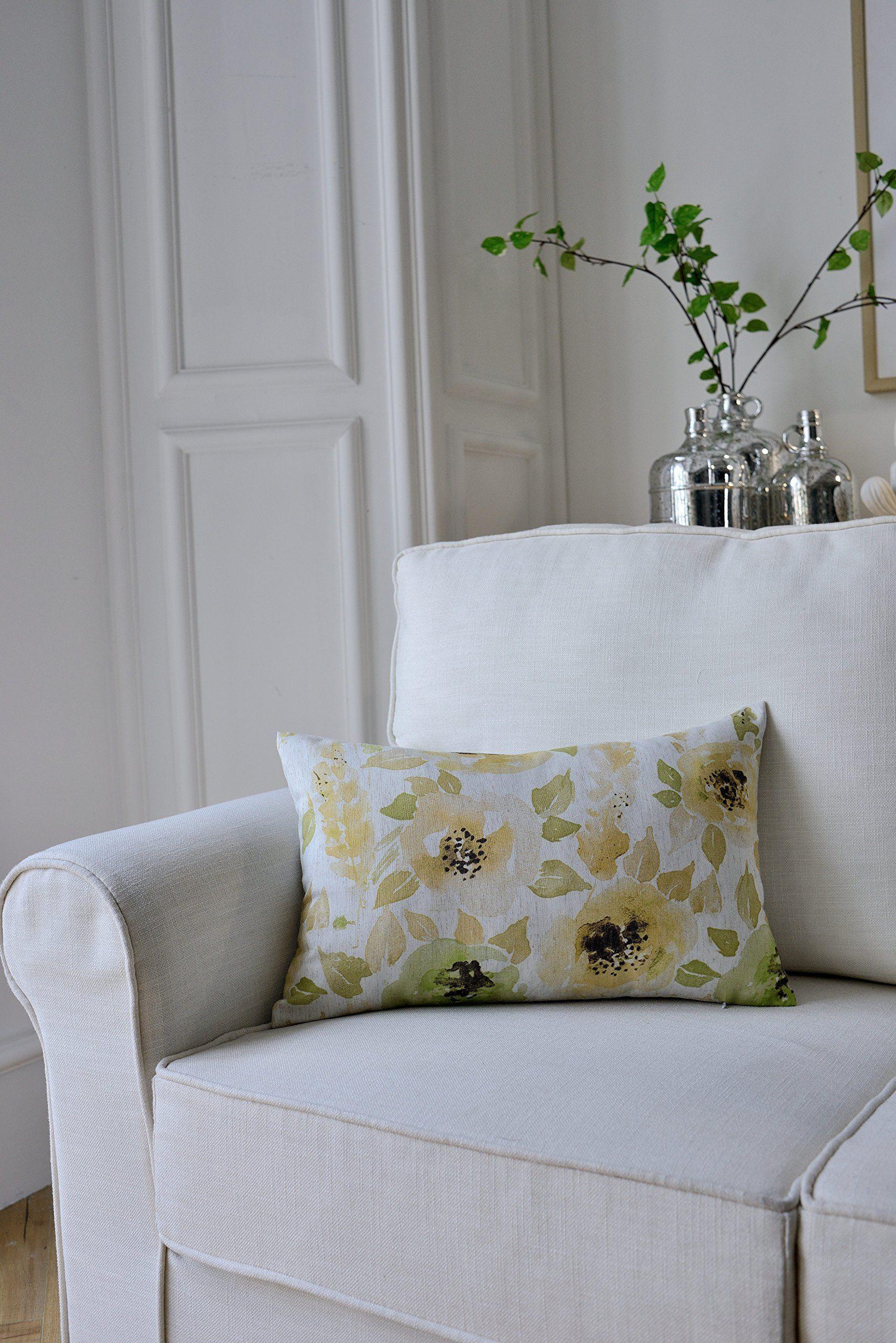 Mysky home set of floral design print cushion covers sofa chair