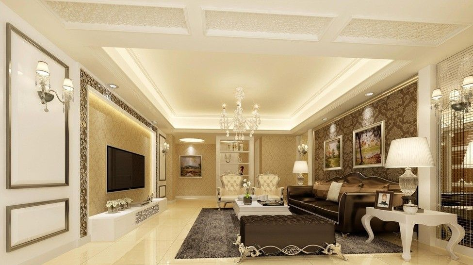 Glamourous modern french living room design luxury for Classic minimalist house design